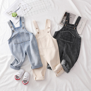 Pantalones de mezclilla para bebés, Pantalones rectos informales para niños y niñas, Ropa para Niñas, pantalones vaqueros infantiles, monos, monos bonitos, pantalones Baberos