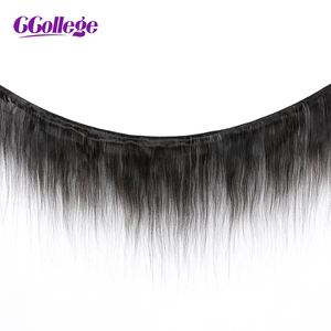 Image 5 - Straight Bundles With Frontal Closure Brazilian Human Hair Pre Plucked 13x4 Lace Frontal Closure With Bundles Non Remy
