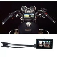 Double Lens 720P Locomotive Driving Recorder LCD HD Head Camera Recording DVR For Motorcycle Camera Fotografica Camara Para Moto