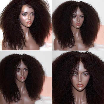 250 Density 13X6 Afro Kinky Curly Lace Front Human Hair Wigs Natural Kinky Curly 360 Lace Frontal Wigs For Women You May Remy