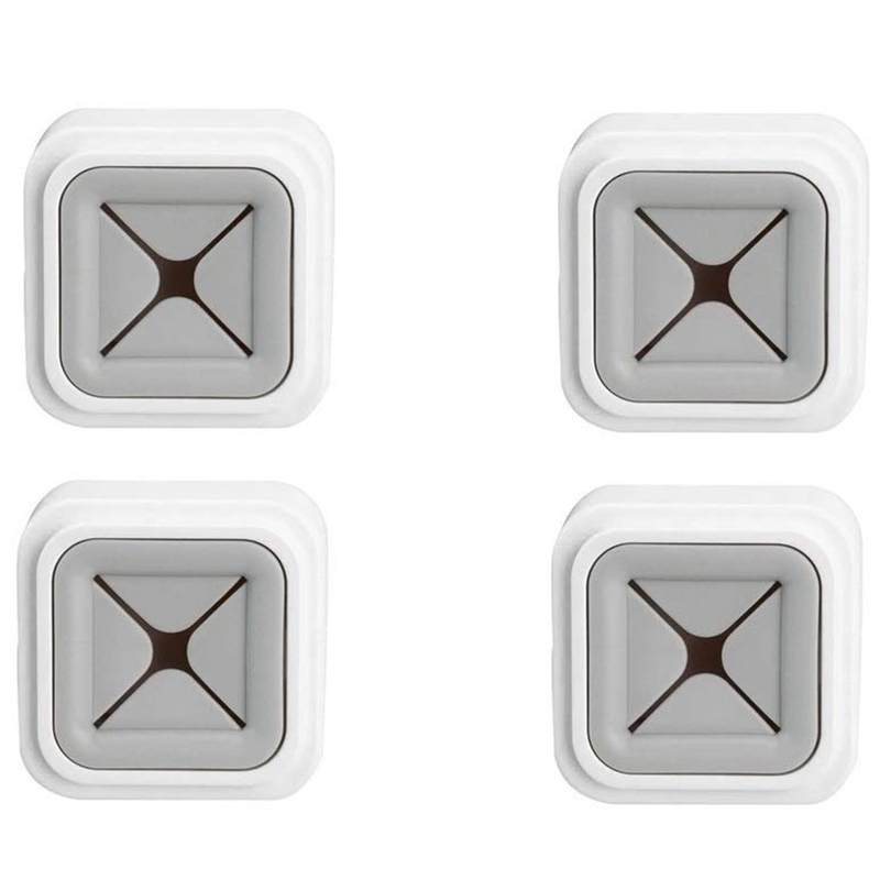 4 Pack Adhesive Towel Hooks Square Gray Towel Holder Door Wall Mount Towel Stopper Rag Clip for Bathrooms Kitchen|Bathroom Hooks| |  - title=