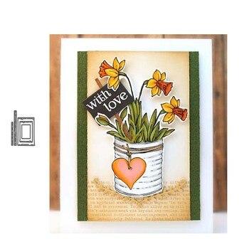 JC palo de madera Marco rectangular troqueles de corte de Metal DIY álbum de recortes troquelado confección de tarjeta plantilla artesanal molde modelo de molde Decoración