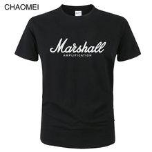 Marshall Camisa de T Logotipo Amplificadores Amplificação Guitar Hero Hard Rock Cafe Música Tops Camisetas Para Homens Moda Harajuku Camisetas c122(China)