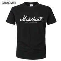 Marshall T Shirt Logo Amps Verstärkung Gitarre Hero Hard Rock Cafe Musik Tops T Shirts Für Männer Mode Harajuku T-shirts c122