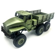 1:16 High Speed RC Car Military Truck 2.4G Six-wheel Remote Control Off-road Climbing Vehicle Model Toy for Kids Birthday Gift
