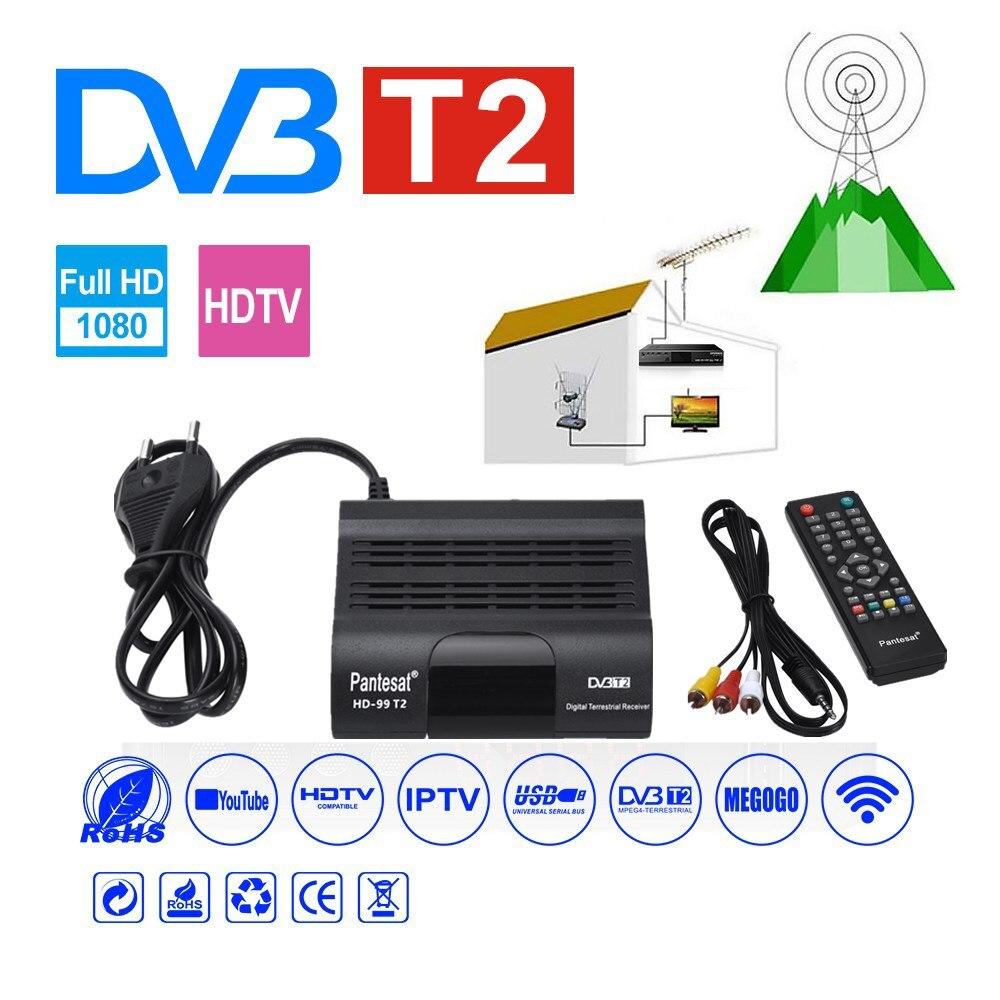 DVB-T2 HEVC 265 Receiver Satellite Wifi Free Digital TV Box DVB T2 DVBT2 Tuner DVB C IPTV M3u Youtube Russian Manual Set Top Box