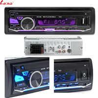 LaBo 12V Bluetooth Autoradio lecteur stéréo FM MP3 Audio 5v-chargeur USB SD MMC AUX Auto électronique In-Dash Autoradio 1 DIN sans CD