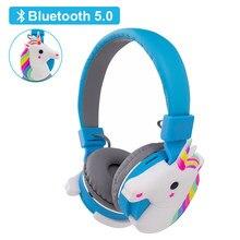 Leuke Eenhoorn Bluetooth 5.0 Draadloze Hoofdtelefoon Met Microfoon Mobiel Telefoon Headset Meisjes Muziek Helmetwith Mic Voor Kids Gift