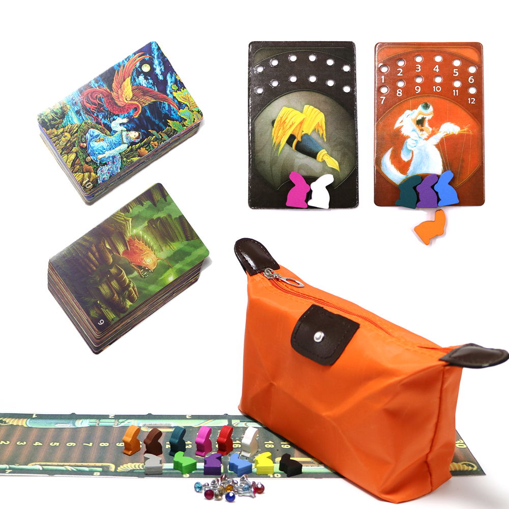 New DD, Mini Dixit Board Games Deck 9 And 10, Wooden Rabbits Kids Toys 156 Playing Cards Game For Family Home Party Game