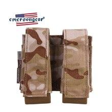 Emersongear Тактический Двойной 40 мм чехол для гранаты 9 мм MOLLE сумка для магазина держатель для амуниции Сумка для страйкбола Охоты Военная Сумка