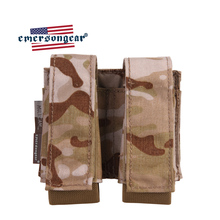 emersongear Tactical Double 40mm Grenade Pouch 9mm MOLLE Magazine Pouch Holder Carrier Ammo Bag Airsoft Hunting Military Pouch grenade props ammo game bomb launcher blast replica military military black simulation hand gags pranks toy kids gifts