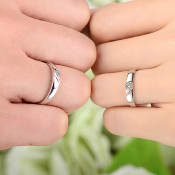 18ct Gold Diamond Couple Set Rings Wedding Bands Engagement Rings for Men Women Free DHL Shipping 4