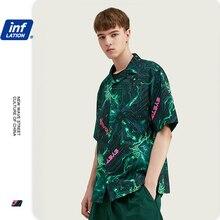 Camisa Dos Homens Camisa Masculina INFLAÇÃO Pубашка Mужская Impressão Digital Verão 2020 Camisa Dos Homens de Manga Curta Camisas Casual 2027S20