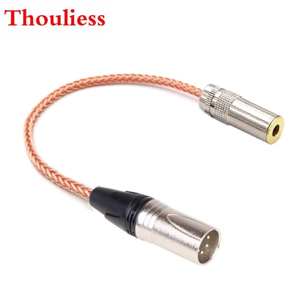 Thoulies HIFI DIY одиночный Кристальный медный 4,4 мм сбалансированный Женский к 4pin XLR сбалансированный мужской аудио адаптер кабель 4,4 мм к XLR адапте...