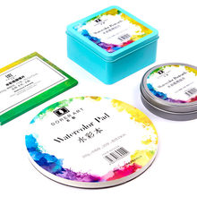 300g Professional Creative Round Watercolor Paper Pad Aquarelle Book Painting Paper Hand Painted Office School Supplies