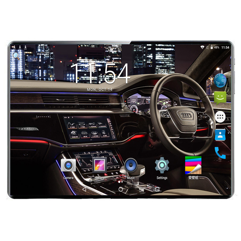 Global Version DHL Free 10 Inch Tablet PC Deca Core 6GB RAM 128GB ROM Android 9.0 2.5D Glass+Gifts 3G 4G Phone Call Dual SIM