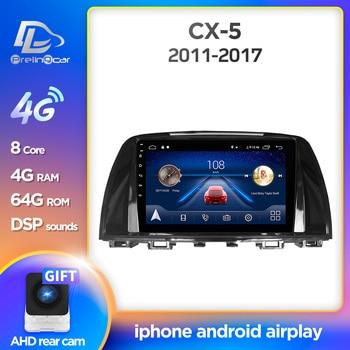 Prelingcar para Mazda Cx-5 cx5 cx 5 2014-2016 años, reproductor Multimedia de vídeo estéreo con Radio para coche, navegación GPS, Android 9,0, tablero