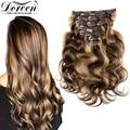 Doreen 240 г, 260 г, 280 г, натуральные человеческие волосы для наращивания, машинное изготовление, Remy, бразильские волосы карамельного цвета, волнис...