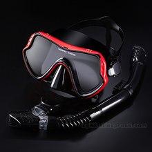 Máscaras profesionales de buceo Conjunto de snorkel Falda de silicona para adultos Snorkel seco para adultos Gafas antiniebla Gafas Natación Pesca Equipo de piscina