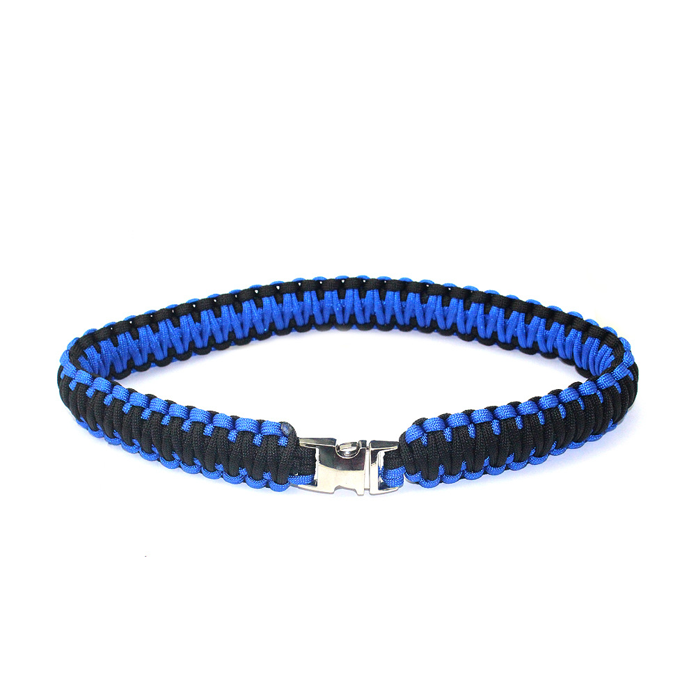 Double Layer Weaving Dog Anti-loss Neck Ring Multi-functional Rope Outdoor Survival Durable Waterproof Anti-Wear Dog Necklace