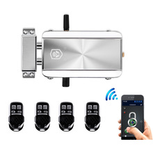 Door-Lock Remote-Control Bluetooth-App Electronic Wireless Anti-Theft 433mhz