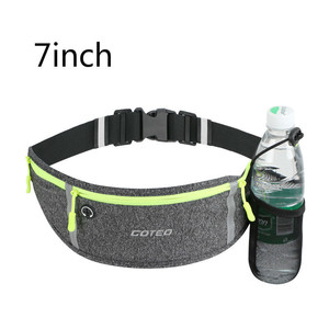 "Image 2 - 7"" Running Marathon Waist Bag Sports Climbing Hiking Racing Gym Fitness Belt Water Bottle Hip Waist Pack for iphone 11 pro max"