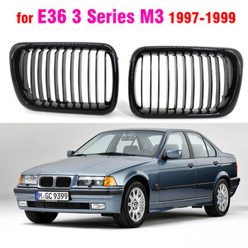 BLACK E36 Grille ABS Front Replacement Hood Kidney Grill For BMW E36 97 98 99 for BMW 318i 323i 325i 320i 328i image