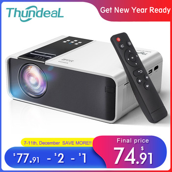 Projektor mini ThundeaL HD TD90 asli 1280x720p LED Android WiFi projektor video home cinema 3D HDMI filem projektor