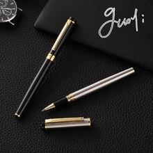 Guoyi D08 двухцветная золотая металлическая Подарочная шариковая ручка, коробки, высокое качество, офисные и школьные канцелярские принадлежности и металлические подарочные ручки
