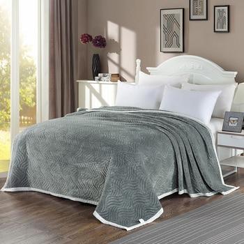 Luxury Quilt Bedspread Ultra Soft All-Season Flannel Fleece Blanket Full Queen Size Thick Plush Velvet Coverlet Quilt Set
