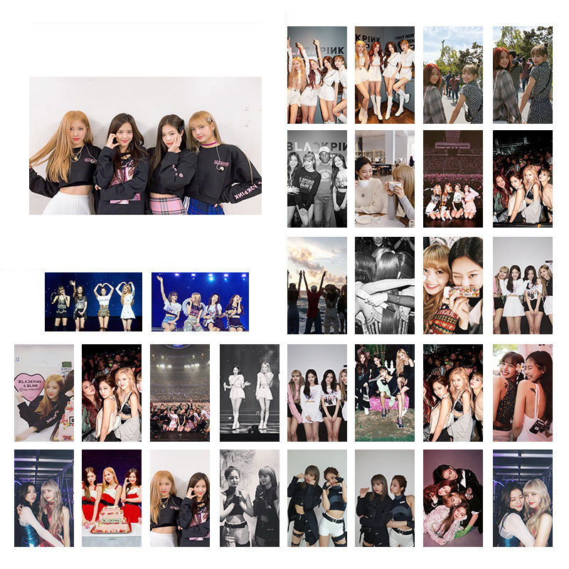 30Pcs/set Korean KPOP BLACKPINK 2020 New Album Photo Cards Selfie Made LOMO Card Postcard Decoration Women Fans Supplies Gifts