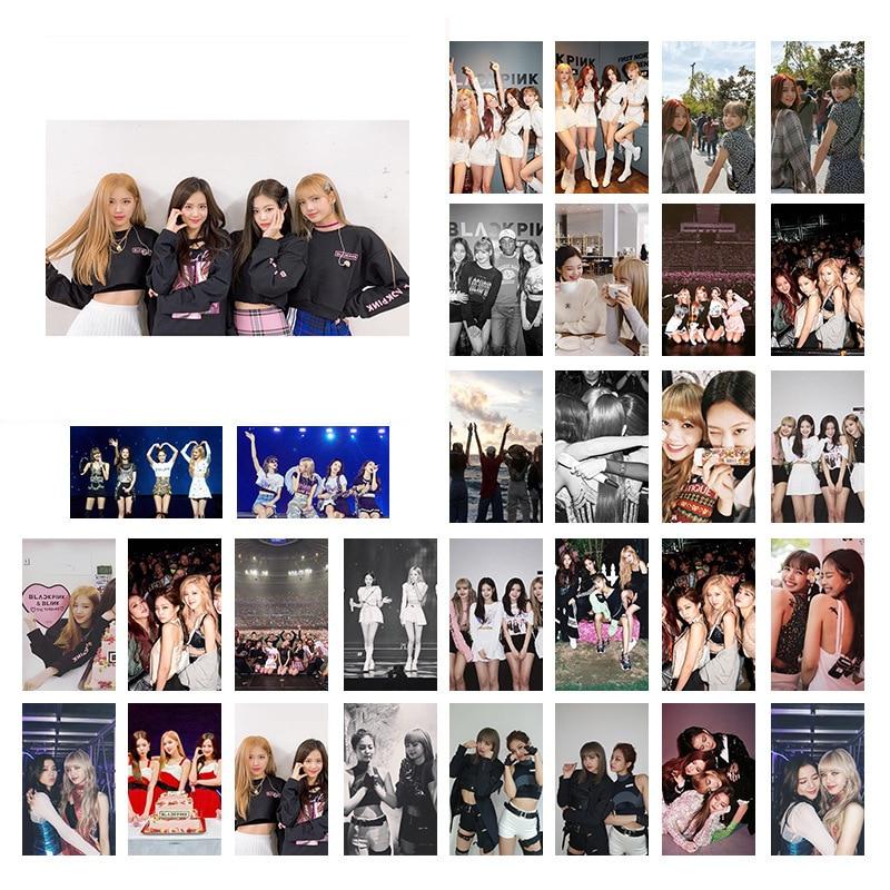 30Pcs/set Korean KPOP BLACKPINK 2020 New Album Photo Cards Selfie Made LOMO Card Postcard Decoration Women Fans Supplies Gifts