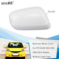 ZUK Left Right Exterior Rearview Mirror Cover Side Mirror Housing Shell For HONDA FIT JAZZ GE6 GE8 2009 2010 2011 2012 2013 2014