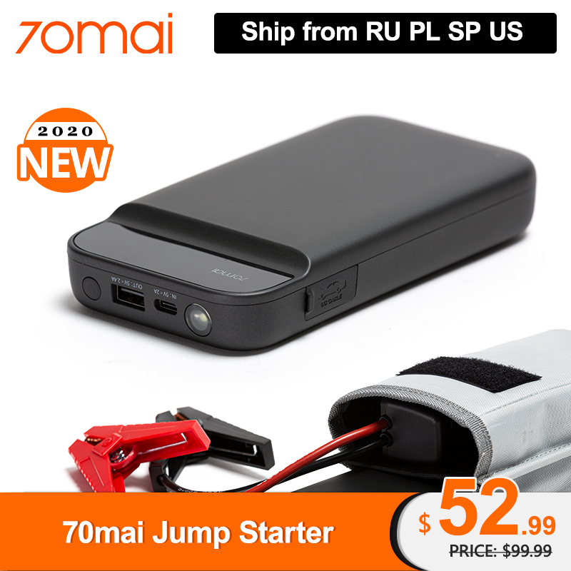 New Arrival 70mai Car Jump Starter Battery Power Bank 600A Portable Car Battery Booster Charger 12V Starting Device Car Starter