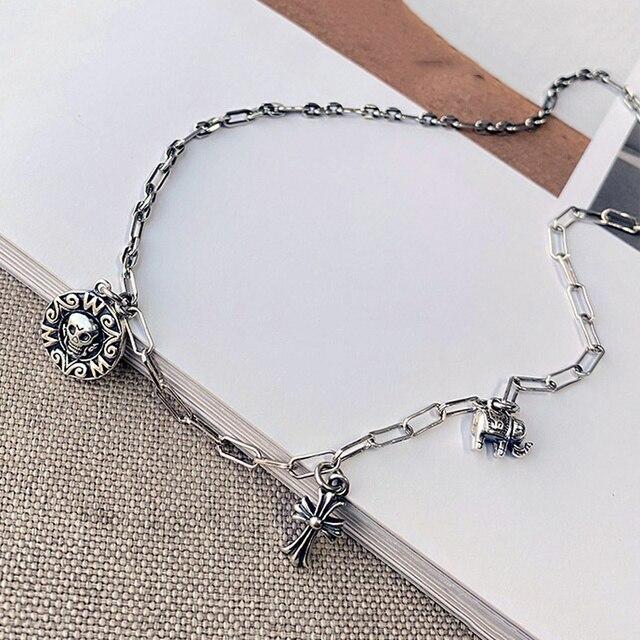 Фото leouerry серебро 925 пробы винтажное ожерелье с подвеской в цена