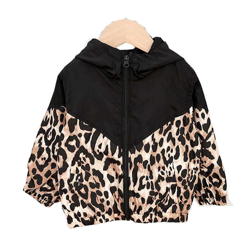 תינוקת ילד בגדי אביב סתיו ילדים ארוך שרוול הדפסת נמר הסווטשרט עמיד למים מעילי מעילי LZ479