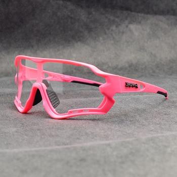 Photochromic ciclismo óculos de sol homem & mulher esporte ao ar livre óculos de bicicleta óculos de sol óculos de sol gafas ciclismo 1 lente 34