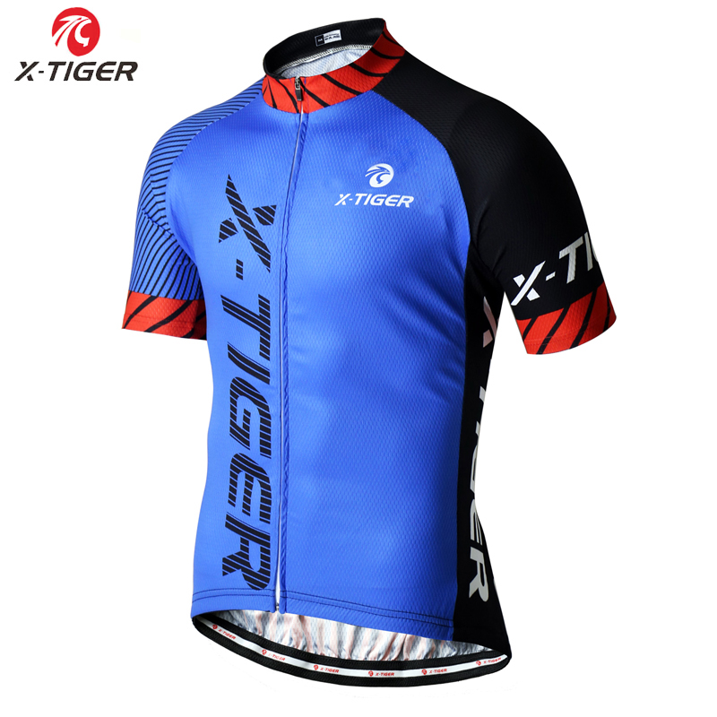 X-TIGER Cycling Jersey Man Mountain Bike Clothing Quick-Dry Racing MTB Bicycle Clothes Uniform Breathale Cycling Clothing Wear 5