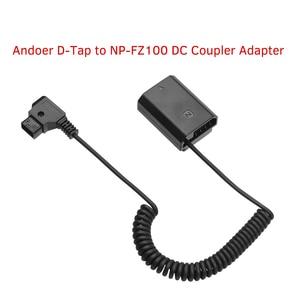 Image 4 - Andoer d tap à NP FZ100 adaptateur coupleur DC entièrement décodé accessoire de batterie factice pour Sony A9 A7R3 A7M3 A7S3 A7III caméras