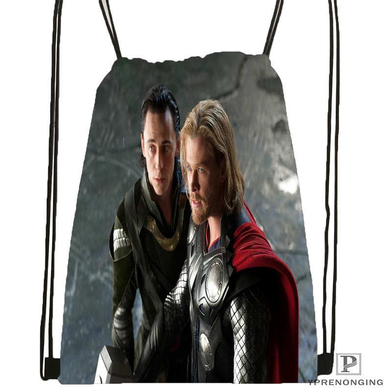 Custom Thor-loki-marvel Drawstring Backpack Bag For Man Woman Cute Daypack Kids Satchel (Black Back) 31x40cm#20180611-03-150