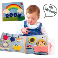 2019 New Felt DIY Cloth Quiet book Finished Book Kid's Early Education Story Book Mom Handmade Sewing Special Xmas Gift For Kids