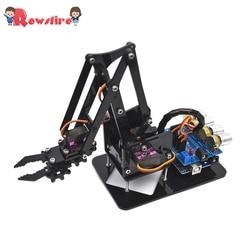 DIY Acryl Roboter Arm Roboter Klaue Arduino Kit 4DOF Mechanische Greifer Manipulator