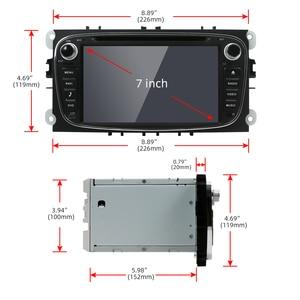 Image 2 - DSP مشغل وسائط متعددة دي في دي للسيارة يعمل بنظام أندرويد 10 مع Din رقم 2 مع نظام تحديد المواقع لسيارات فورد فوكس 2 ومونديو جالاكسي S Max وواي فاي مع وحدة 4G + 64G