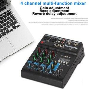 Image 4 - נייד bluetooth ערבוב קונסולת 4 ערוץ אודיו מיקסר עם Reverb אפקט לבית קריוקי USB שלב קריוקי KTV