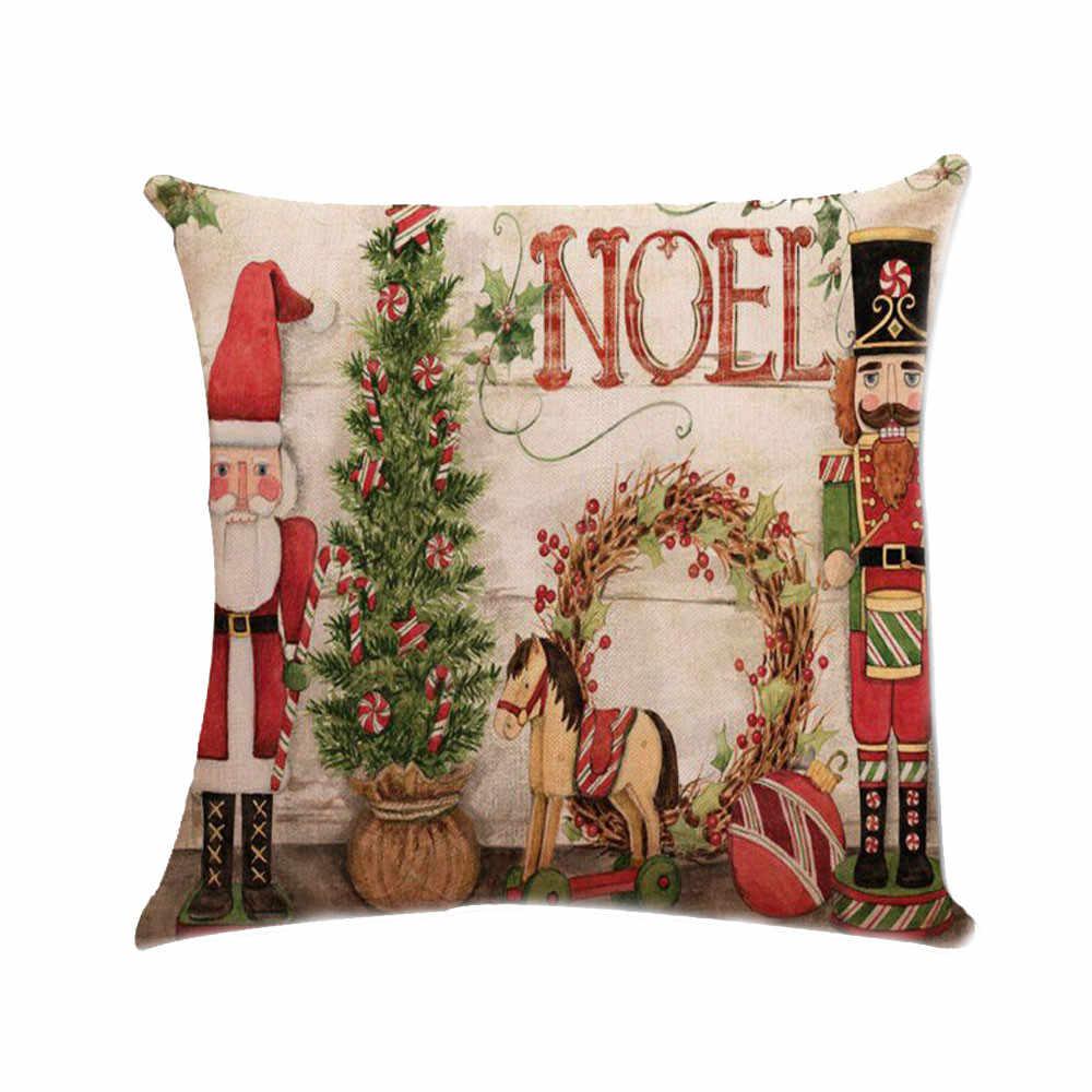 クリスマスクリスマスサンタクロース最高のタッチ枕ケース広場ホーム快適なハッピーニューイヤー 2019 ナヴィダードクリスマスギフト # R5