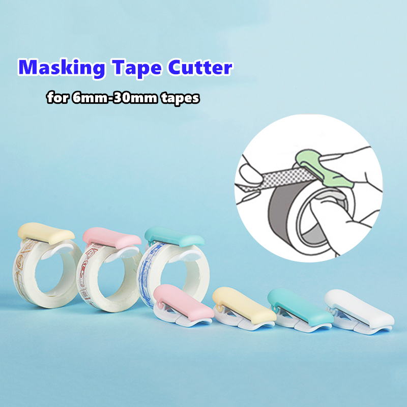 Mini Masking Tape Cutter Portable Sized Color Dispenser For 6-30mm Paper Washi Tapes Adhesive Stickers Journal Tools A6595