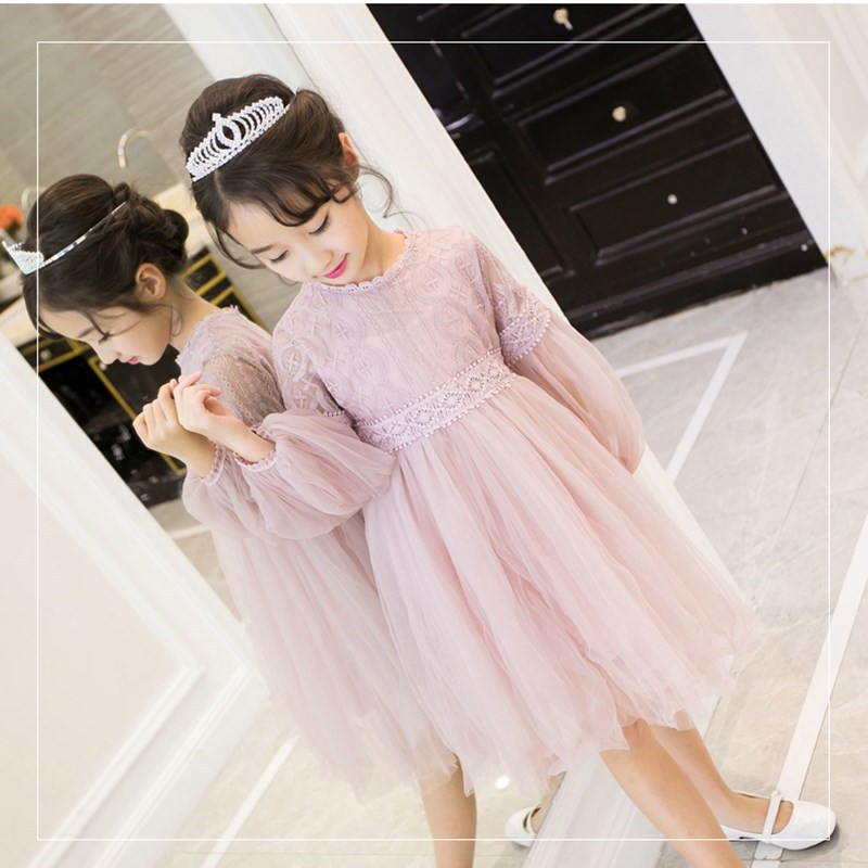 CHILDREN'S Skirt Long Sleeve Spring Princess Veil CHILDREN'S Dress Chao Yang Gas Girls Autumn Clothing Skirt All Seasons 2019