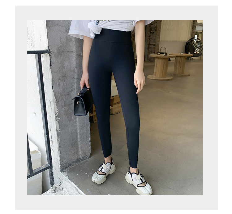 Hb6f7e0c36cce40faa39be12a5477eb1a5 BIVIGAOS New Women Sharkskin Black Leggings Thin Workout Stretch Sexy Fitness Leggings Skinny Legs Slimming Sport Leggings