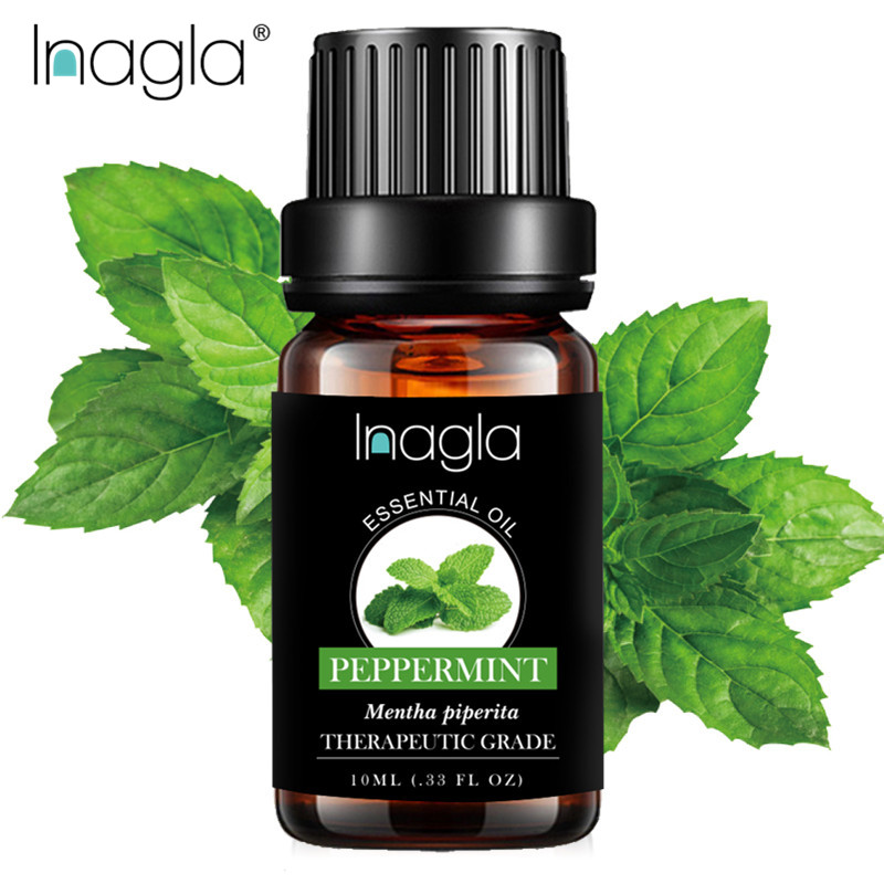 Inagla Peppermint Essential Oil Pure Natural 10ML Pure Essential Oils Aromatherapy Diffusers Oil Relieve Stress Mint Air Fresh