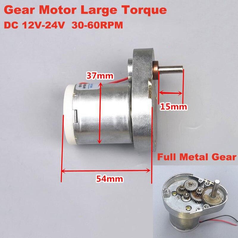 High torque 37MM Gearbox Gearmotor 37JGP3429 Gearmotor DC 3V-12V DIY